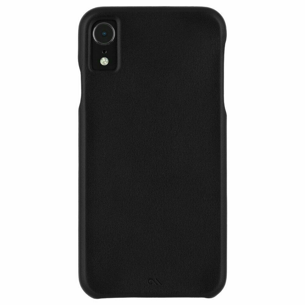 Case-Mate Barely There Genuine Black Leather Case for Apple iPhone XR NEW