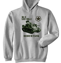 M3 Lee Mk I Medium Tank - New Cotton Grey Hoodie - All Sizes In Stock - $39.80