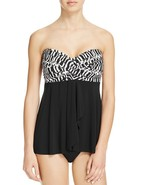 NWT  Miraclesuit Swimsuit Bikini Tankini Top sz 10 Between the Pleats Ca... - $38.59