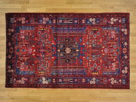 5'x8' Full Pile Pure Wool Persian Nahavand Hand Knotted Oriental Rug G24574 - $1,266.11