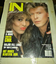 David Bowie Tina Turner June 1987  In Fashion magazine cover - $19.99