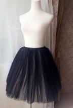 BLACK WHITE Tutu Skirt Designer Adult Tutus Photography Prop Elastic Plus Size image 7