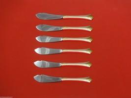 "Regency Shell Gold by Lunt Sterling Silver Trout Knife Set 6pc. Custom 7 1/2"" - $418.10"