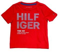 Tommy Hilfiger Kids T-Shirt Boys Red Logo Hilfiger- XS(4-5) - $26.99