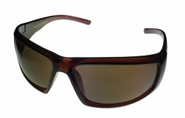 Perry Ellis Mens Sunglass Dark Crystal Brown Plastic Wrap, Gradient Lens... - $17.99