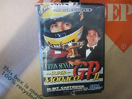 Ayrton SENNA'S Super Monaco Gp II 2 Videospiel Kassette Sega Mega Drive RAR - $33.11