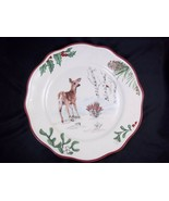 """BH&G Christmas salad plate Fawn in Snow 9"""" NEW - $9.70"""