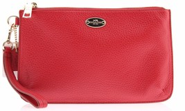 New Coach Lyla Double Gusset Crossbody Pebble Leather Classic Red F53157 IME8B - $90.00