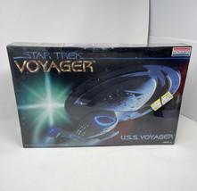 Vintage Monogram Star Trek Voyager USS Voyager 1:677 Model Kit Factory Seal - $58.41