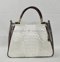 NWT! Brahmin Leather Ruby Satchel/Shoulder Bag in Pearl Akoya Tri-Color - $289.00
