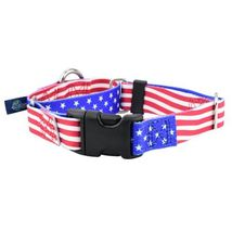 2Hounds Martingale Collar with Leash Medium Star Spangled NEW! image 1