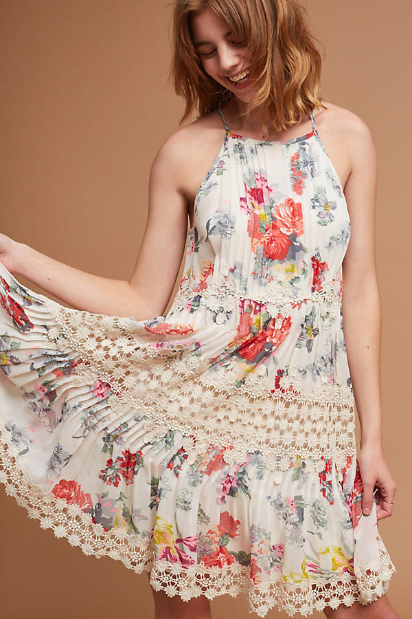 Primary image for NWT ANTHROPOLOGIE KALILA FLORAL LACE DRESS by RANNA GILL M