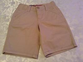Girls New Size 14 Slim Justice shorts uniform long khaki shorts bermuda - $13.99