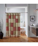 Prairie Winds Patchwork Vhc shower curtain farmhouse rustic Bath Decor - $58.40