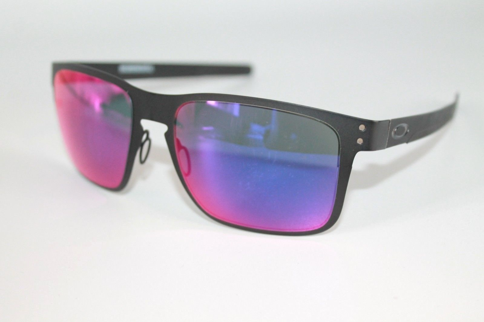 5640f988ac S l1600. S l1600. Previous. Oakley Holbrook Metal Sunglasses OO4123-02 Matte  Black W  Positive Red Iridium