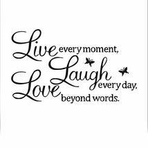 TRIXES Live Laugh Love Black Wall Decal Sticker Home Decoration  Vinyl W... - $3.85