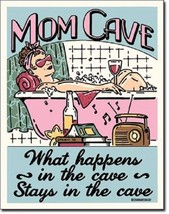 Ephemera Mom Cave What Happens Stays Sanctuary Wall Art Decor Metal Tin Sign New - $15.99