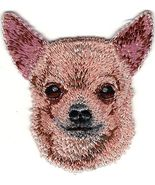 """2"""" x 2 1/4"""" Tan Chihuahua Head Portrait Dog Breed Embroidery Patch - $4.99"""