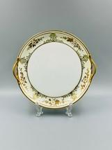 VTG NIPPON JAPANESE Small Gilded Serving Plate w-Handles 7 1/2″/Dining/V... - $10.09