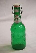 Old Vintage Grolsch Green Beer Bottle w Swing Top Lid Bar Barware - $16.82
