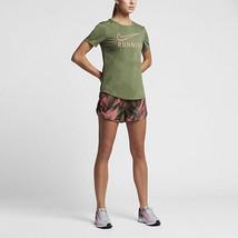 839520-387 Nike Women's Dry Tee Running Military Green Athletic T-Shirt - $39.99