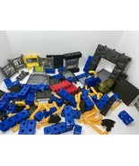 FISHER PRICE BATMAN TRIO BLOCKS SET, INCOMPLETE, BUILDING BLOCKS, BATCAVE - $14.85