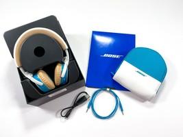 Bose Soundlink OE On-Ear Wireless Headband Headphones White/Blue - $129.99