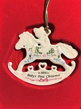 Lenox 2016 Baby's First Christmas Rocking Horse Ornament #858736 - $10.99