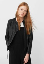 New Classic Slim Fit Stylish Soft Lambskin Leather Jacket for Women -87