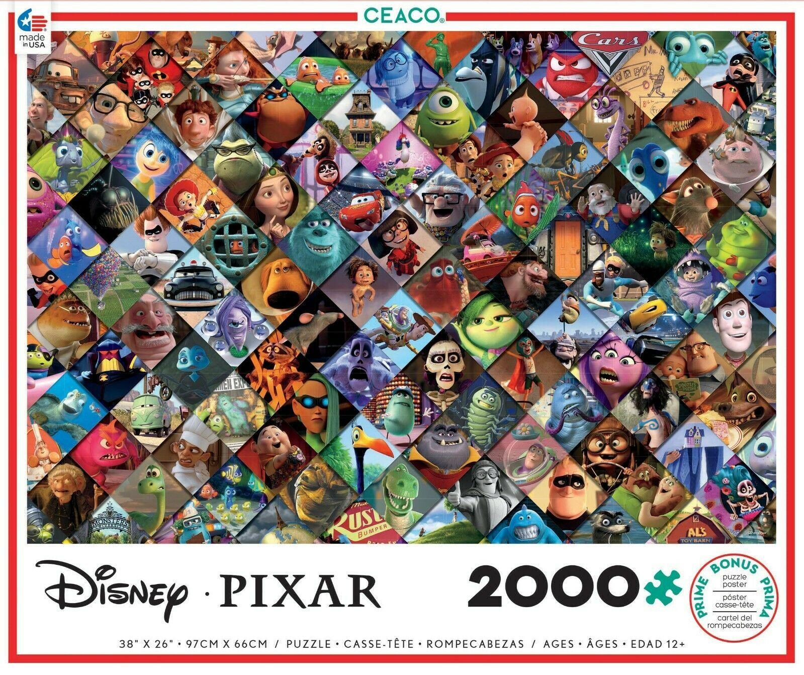 Ceaco Disney Pixar Clips Jigsaw Puzzle w/ Bonus 2000 Pieces NEW - $28.68
