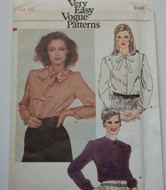 Vogue Sewing Pattern 7754 Misses Blouses Size 10 - $11.65