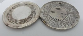 Two Silverplate Footed Hot Plates Trivets Slotted Silver Plate Newport b... - $18.69