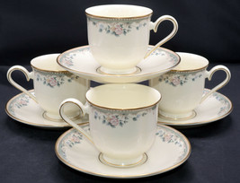 Lenox Spring Vista * 4 SETS CUPS & SAUCERS * American Home Collection, M... - $49.49