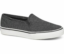 Keds WF59053 Women's Shoes Double Decker Twill Stripe Jersey Charcoal, 7... - $39.55