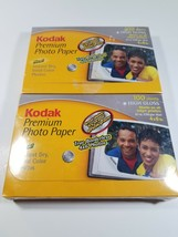 2 Boxes of Kodak Premium Photo Paper 4x6 SATIN 100 Sheets Per Box 200 Total NEW - $14.80