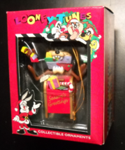Matrix Christmas Ornament 1996 Looney Tunes Taz Tamanian Devil on Mail Box Boxed - $6.99