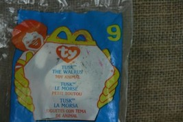 TY Beanie Babies Tusk The Walrus #9 2000 McDonald's Happy Meal Plush IN BAG - $6.50