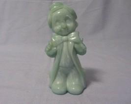 Vintage Boyd Glass Light Blue Slag Chuckles The Clown Figurine - $9.99