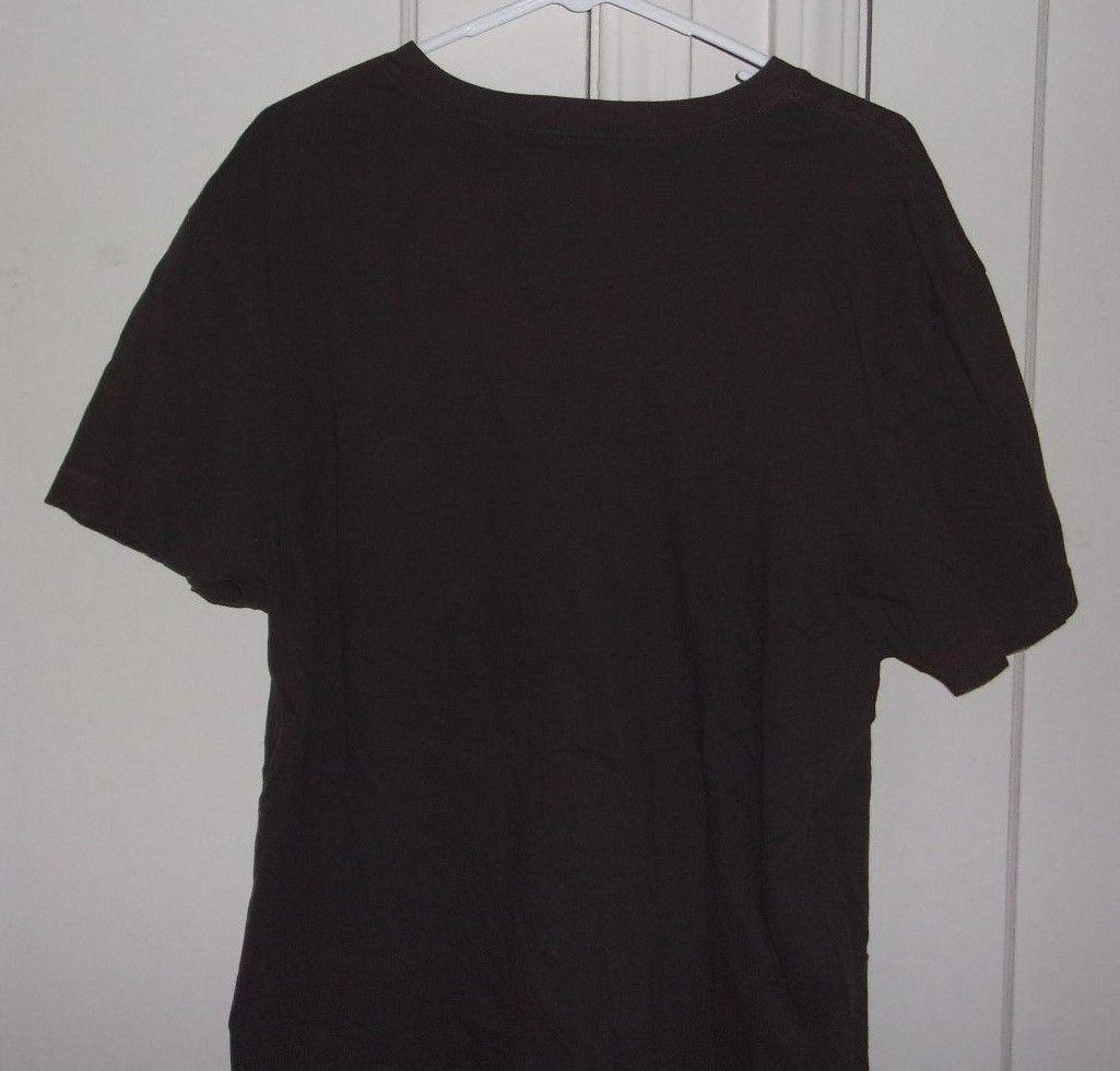 American Rag Cie Mens XL 100% Cotton Brown Short Sleeve Graphic T Shirt