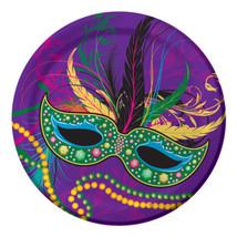 "Mardi Gras Masks Collection Party 8 7"" Dessert Cake Plates - $3.99"
