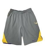 Vtg. Nike Team LSU Tigers Silver Gym Shorts Men's Size M Medium NCAA Polyester - $18.91