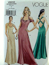 Vogue Pattern 8242 Awesome Lady's gown evening dress Size 16 18 20 New - $11.08