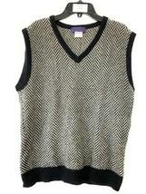 Women's Ralph Lauren Purple Label Knitted Sweater Vest Black Gray White ... - $98.99