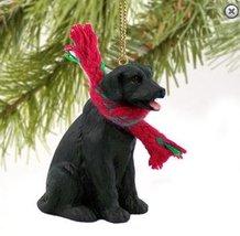 Christmas Tree Ornament - Black Lab (Labrador Retriever) with Scarf - $22.99