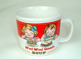 Vintage 1989 Campbell's Soup Mug Cup Kids Design M'm! Good Westwood - $8.86