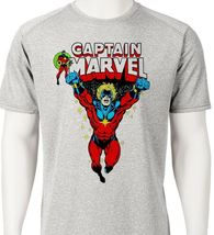 Captain Marvel Dri Fit graphic T-shirt microfiber Mar-Vell Sun Shirt comic tee image 3