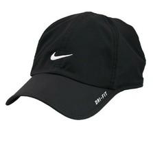 NEW! RARE Black/White NIKE Men-Women's Tennis Cap DRI-FIT Run Hat Feathe... - $148.38