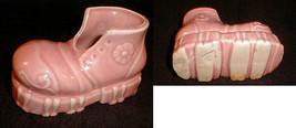 Pottery  Planter Shoe Pink 1950s  girl baby  - $29.21 CAD
