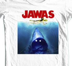 JAWAS Star Wars T-shirt  C3PO JAWS retro 70s parody100% cotton graphic tee image 1