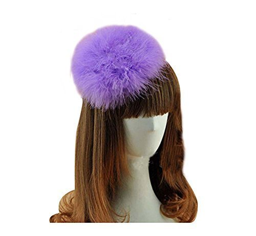 Beautiful Charming Feather Hairpin for Parties/Stage/Wedding,Purple